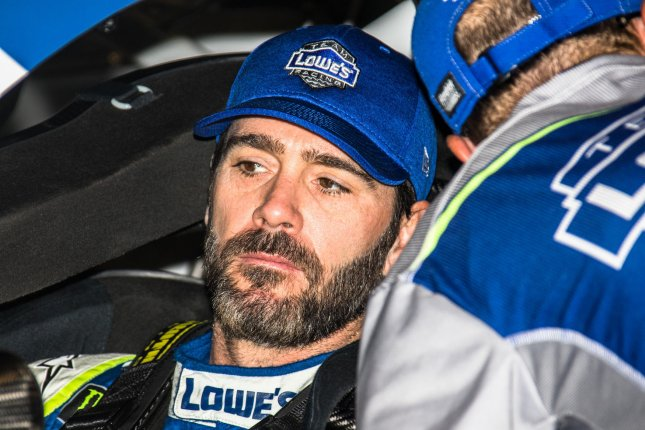 Jimmie Johnson is the defending winner of this weekend's NASCAR race in Charlotte. Photo by Edwin Locke/UPI
