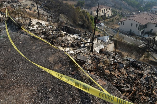 Two coastal California towns were ordered to evacuate on Sunday, as the Thomas Fire grew to 173,000 acres. Photo by Jim Ruymen/UPI