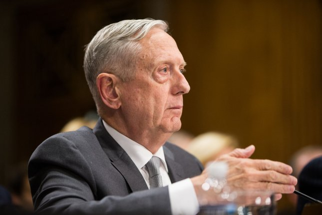 Secretary of Defense James Mattis testifies during a Senate Foreign Relations Committee hearing on Capitol Hill, in Washington, D.C. on Oct. 30, 2017. Mattis on Tuesday made a surprise visit to Afghanistan to discuss peace talks with the Afghan government. Photo by Erin Schaff/UPI