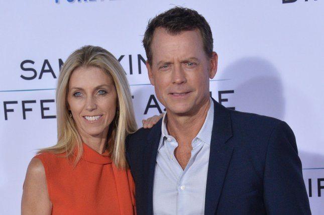 Greg Kinnear (R) with his wife Helen Labdon. The actor is set to star in Misbehaviour alongside Lesley Manville. File Photo by Jim Ruymen/UPI