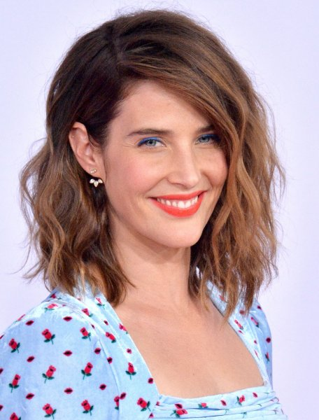 Cobie Smulders carefully took questions about Avengers: Endgame. File Photo by Jim Ruymen/UPI