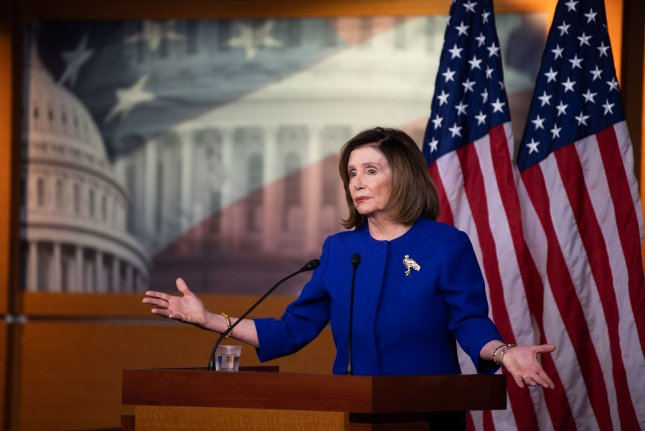 Speaker of the House Nancy Pelosi, D-Calif.,on Sunday said she would not rule out subpoenaing witnesses for President Donald Trump's impeachment trial if the Senate chooses not to call witnesses for its trial. Photo by Kevin Dietsch/UPI