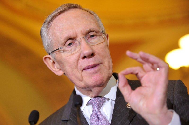 Senate Majority Leader Harry Reid . UPI/Kevin Dietsch