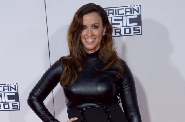 Alanis Morissette arrives for the 43rd annual American Music Awards on November 22, 2015. Morissette has developed a musical based on her album Jagged Little Pill. File Photo by Jim Ruymen/UPI