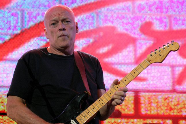 David Gilmour of Pink Floyd reunites with the band for a concert in London in 2005. File Photo by David Silpa/UPI