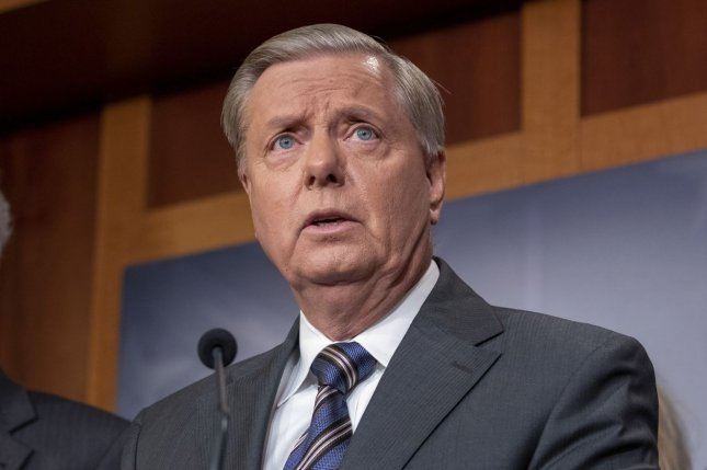 Sen. Lindsey Graham, R-S.C., said the impeachment inquiry is dangerous for the future of the presidency. Photo by Tasos Katopodis/UPI