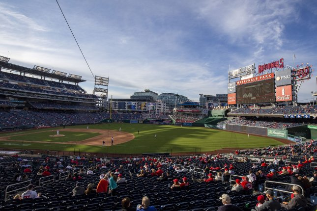 The Washington Nationals currently have 12 positive COVID-19 cases, including four players and eight coaches/staffers. File Photo by Tasos Katopodis/UPI