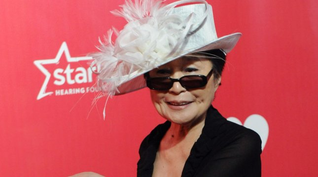 Artist Yoko Ono arrives for the MusiCares Person of the Year Tribute to Paul McCartney held at the Los Angeles Convention Center in Los Angeles on February 10, 2012. UPI/Jim Ruymen