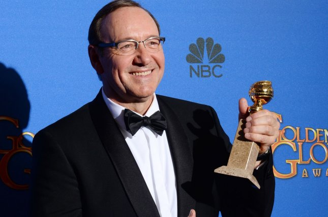 Elvis & Nixon and House of Cards star Kevin Spacey at the 72nd annual Golden Globe Awards on January 11, 2015. File Photo by Jim Ruymen/UPI