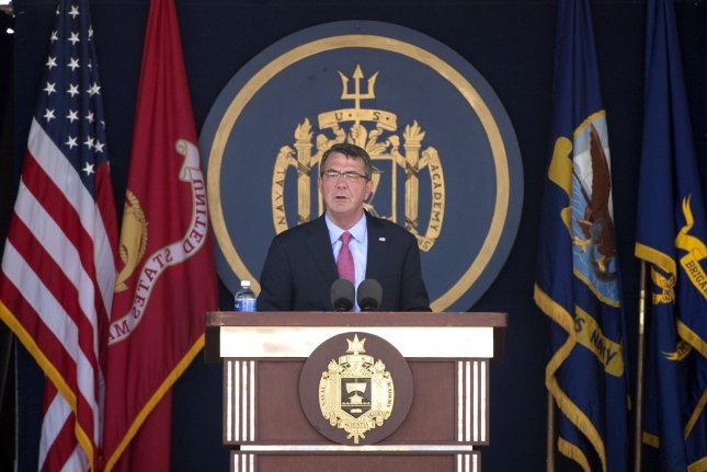 """Defense Secretary Ash Carter announced plans on Thursday for the U.S. military that would make it the """"security partner of choice"""" in the Asia-Pacific. Photo by Kevin Dietsch/UPI"""