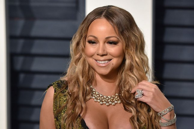 Mariah Carey appeared to wear her $10 million engagement ring to an event Monday in New York. File Photo by Christine Chew/UPI