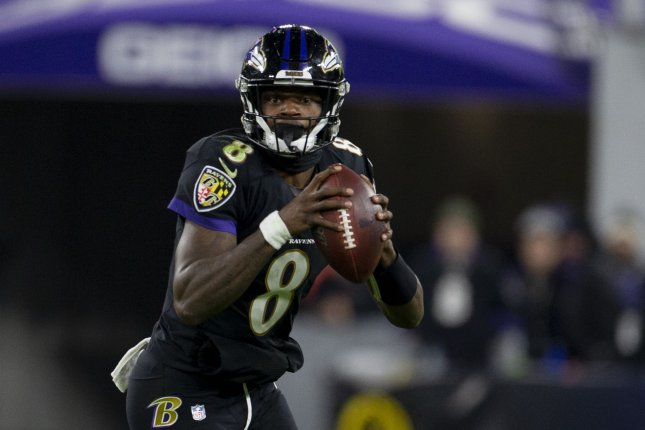 Baltimore Ravens quarterback Lamar Jackson, the leading candidate for the MVP award, was selected to his first Pro Bowl. File Photo by Tasos Katopodis/UPI