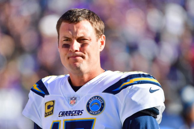 Los Angeles Chargers quarterback Philip Rivers was an eight-time Pro Bowl selection with the franchise. File Photo by Kevin Dietsch/UPI