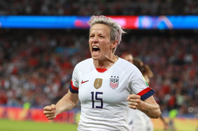 United States National Team star Megan Rapinoe will not be on the OL Reign roster for the NWSL's Challenge Cup. File Photo by David Silpa/UPI