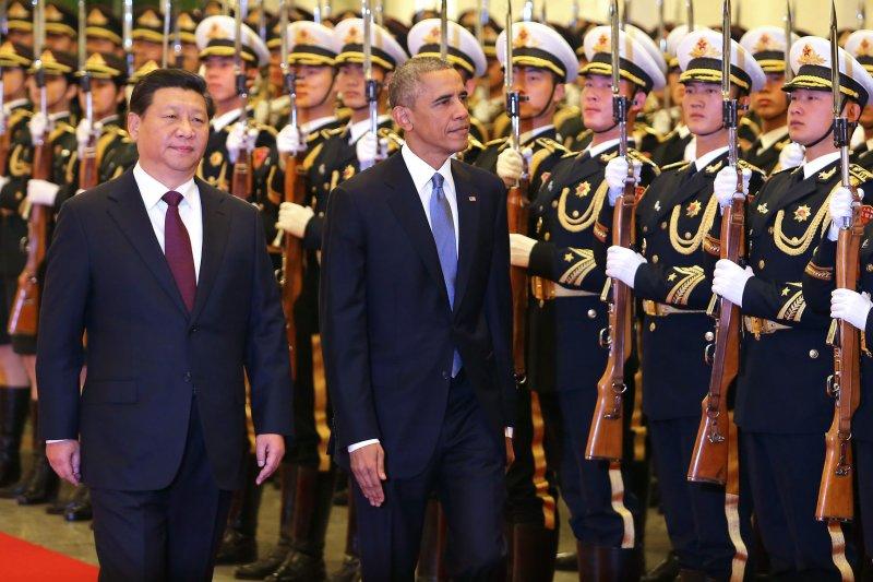 U.S. President Barack Obama (R) and Chinese President Xi Jinping. UPI/Stephen Shaver