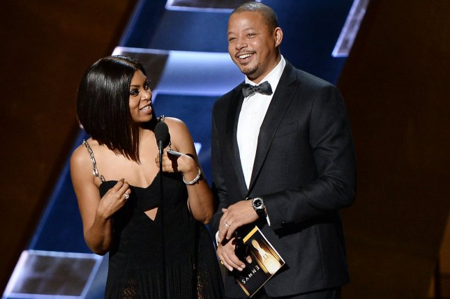 Actress Taraji P. Henson (L) and actor Terrence Howard onstage during the 67th Primetime Emmy Awards in Los Angeles on September 20. File Photo by Ken Matsui/UPI