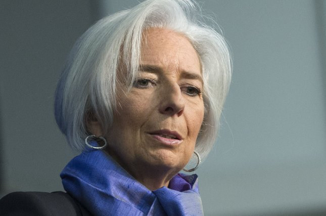 Christine Lagarde, Managing Director or the International Monetary Fund, said that she's been impressed with Chinese economic efforts to ensure stable levels of growth. Crude oil prices turn positive in response after dropping in response to sector activity. File photo by Kevin Dietsch/UPI