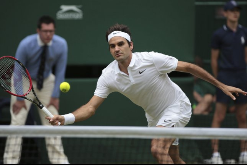Roger Federer. Photo by Hugo Philpott/UPI