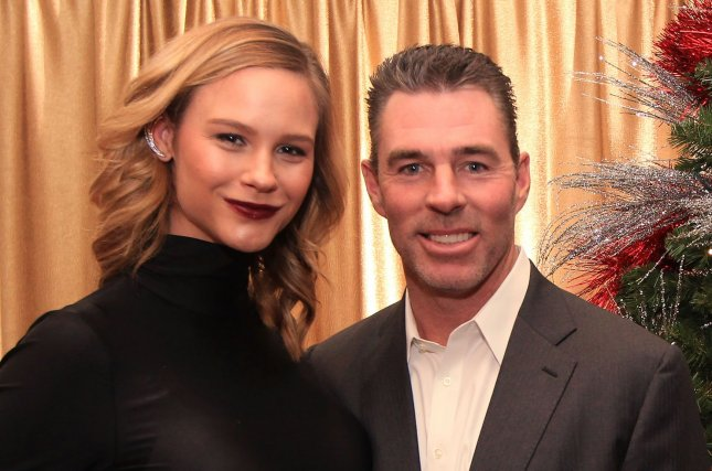 Meghan King Edmonds (L), pictured with Jim Edmonds, shared a snapshot from her Beyoncé-inspired photo shoot. File Photo by Bill Greenblatt/UPI
