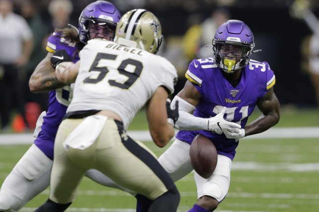 Minnesota Vikings running back Ameer Abdullah (31) served as the team's primary kick returner last season. File Photo by AJ Sisco/UPI