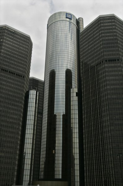 GM's Global Headquarters is shown in downtown Detroit, as it filed for bankruptcy protection on June 01, 2009. President Obama pledged up to $30 billion more dollars in federal assistance to help the troubled automaker. (UPI Photo/Mark Cowan)
