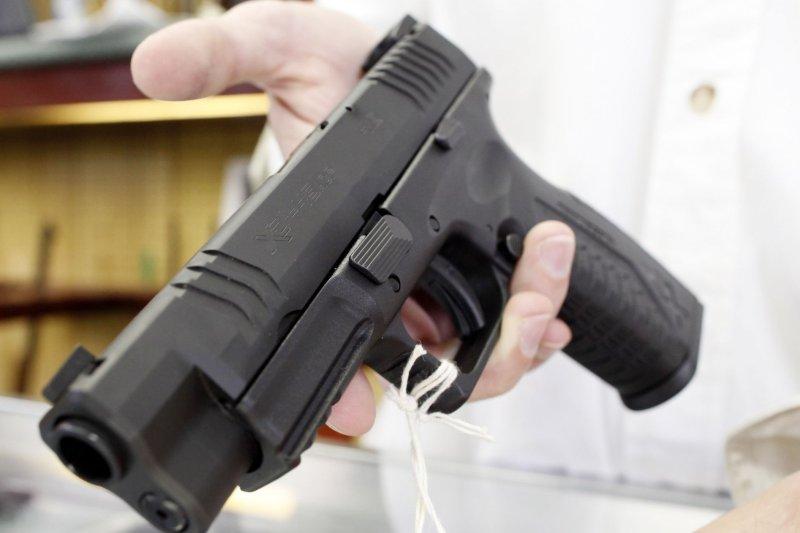 A popular semiautomatic pistol (File/UPI/Brian Kersey)