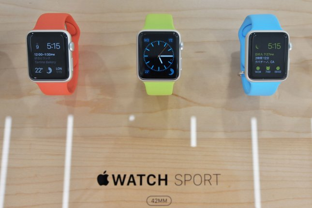Apple has limited the availability of its new smartwatch due to technical problems discovered in some of the watches' taptic engines -- a part that notifies wearers of various alerts by vibrating the wrist. Photo by Keizo Mori/UPI