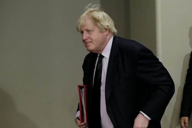 British Foreign Secretary Boris Johnson will be among the representatives of the G7 countries meeting Monday in Lucca, Italy, to discuss the Syrian civil war and the United States' missile attack on the Assad regime last week. File Photo by John Angelillo/UPI