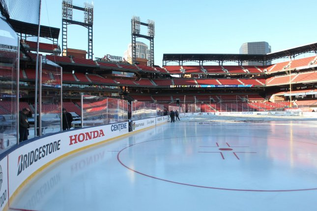 The 2017 Winter Classic was played at St. Louis's Busch Stadium. The 2018 version will return to New York when the Rangers play host to the Buffalo Sabres, who hosted the very first event. File photo by Bill Grenblatt/UPI