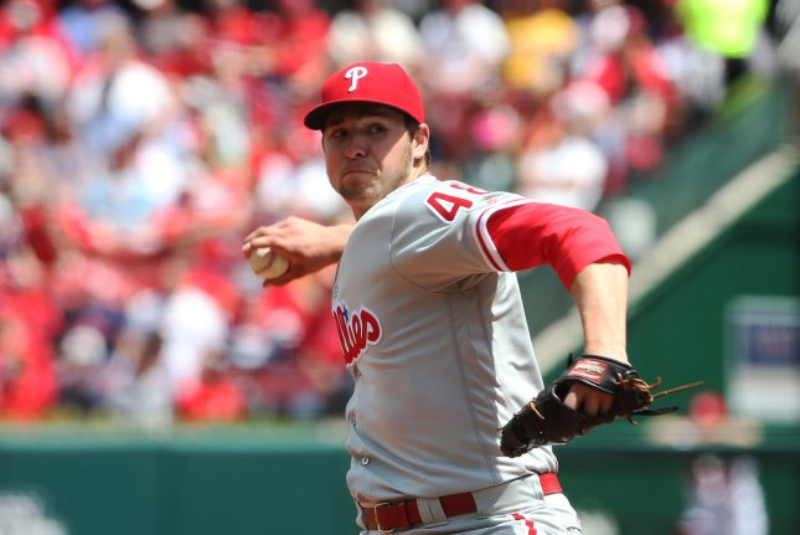 Philadelphia Phillies starting pitcher Jerad Eickhoff delivers a pitch. File photo by Bill Greenblatt/UPI