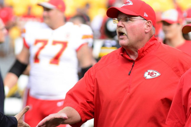 Kansas City Chiefs head coach Andy Reid. Photo by Archie Carpenter/UPI