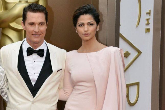 Matthew McConaughey and Camila Alves arrive on the red carpet at the 86th Academy Awards at Hollywood & Highland Center in the Hollywood section of Los Angeles on March 2, 2014. UPI/Kevin Dietsch