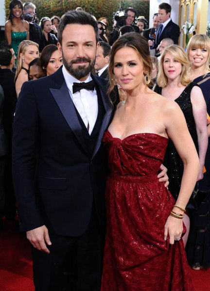 Actor and director Ben Affleck and his wife, actress Jennifer Garner arrive for the 70th annual Golden Globe Awards held at the Beverly Hilton Hotel in Beverly Hills, California on on January 13, 2013. UPI/Jim Ruymen
