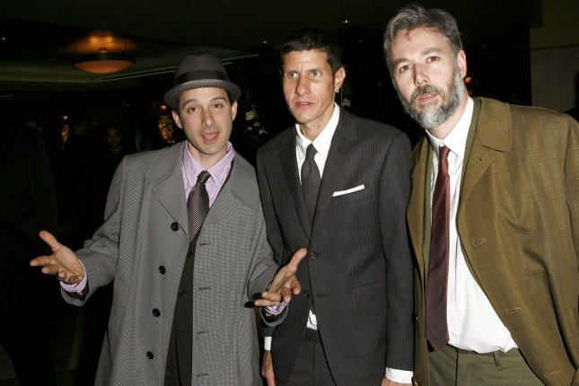 The Beastie Boys (L-R) Adrock (Adam Horovitz), Mike D (Michael Diamond), and MCA (Adam Yauch) pose for pictures in 2006. John Berry -- not pictured -- was a founding member of the group and is credited with coming up with its name. Berry died Thursday morning. He was 52 years old. File Photo by John Angelillo/UPI