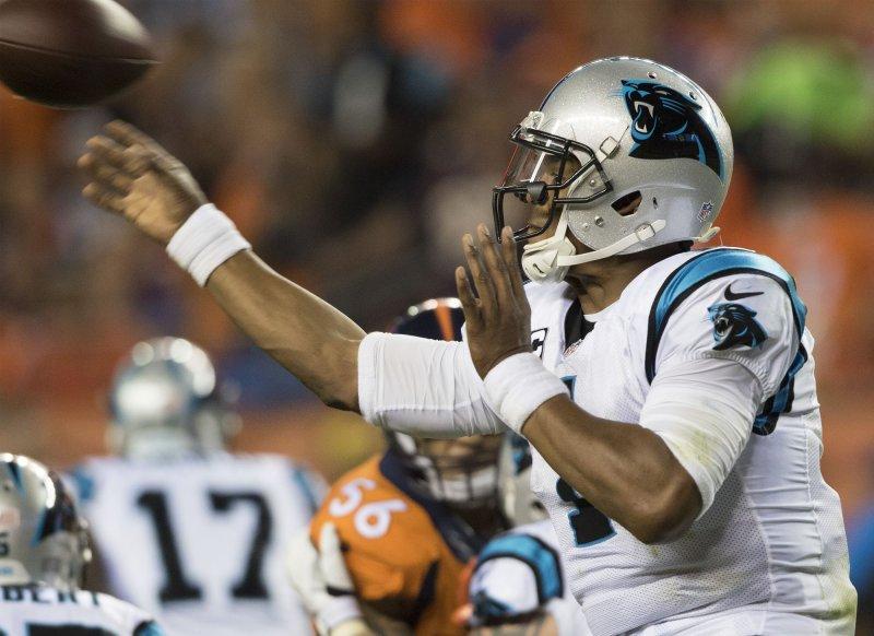 Carolina Panthers quarterback Cam Newton Photo by Gary C. Caskey/UPI