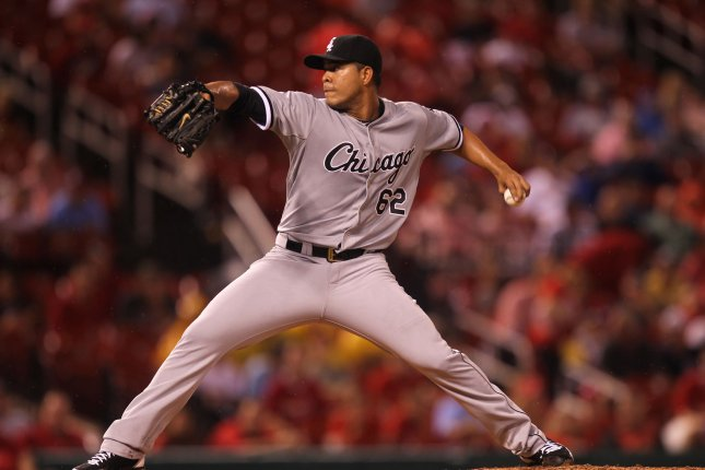 Chicago White Sox starting pitcher Jose Quintana delivers a pitch. File photo by Bill Greenblatt/UPI