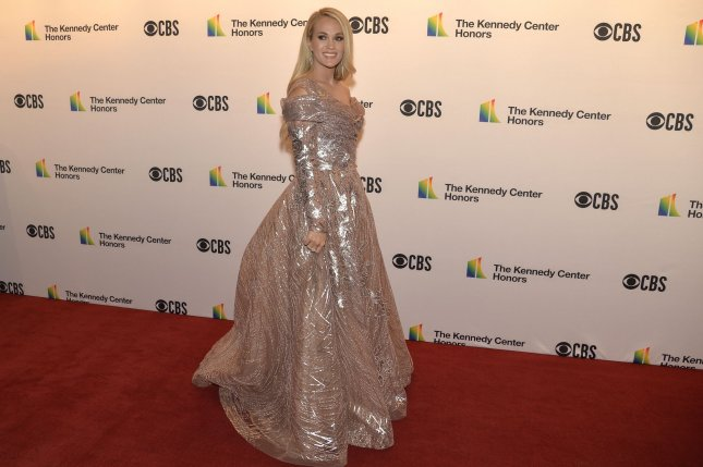 Singer Carrie Underwood won Video of the Year at the 2021 CMT Music Awards for her collaboration with John Legend Hallelujah.File Photo by Mike Theiler/UPI