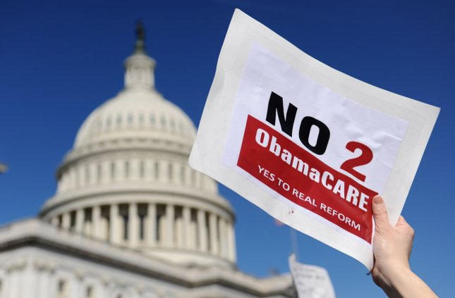 Despite the passage of healthcare reform, U.S. adults are barely more content today with the nation's healthcare system than before 2008, a survey indicates.  UPI/Kevin Dietsch