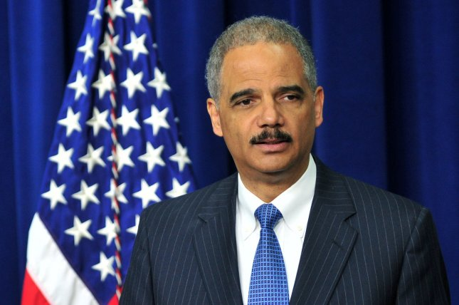 U.S. Attorney General Eric Holder speaks at an event highlighting the need to reauthorize the Violence Against Women Act in the Eisenhower Executive Office Building in Washington, D.C. on April 18, 2012. -- UPI/Kevin Dietsch
