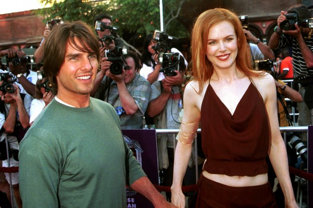 Nicole Kidman (R) and Tom Cruise at the Los Angeles premiere of Eyes Wide Shut on July 14, 1999. The pair were married from 1990 to 2001. File Photo by Jim Ruymen/UPI