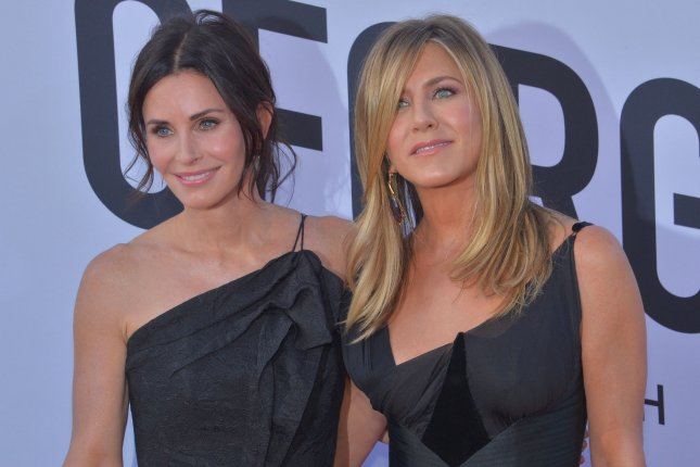 Courteney Cox (L) and Jennifer Aniston played Monica Geller and Rachel Green on the NBC series Friends. File Photo by Jim Ruymen/UPI