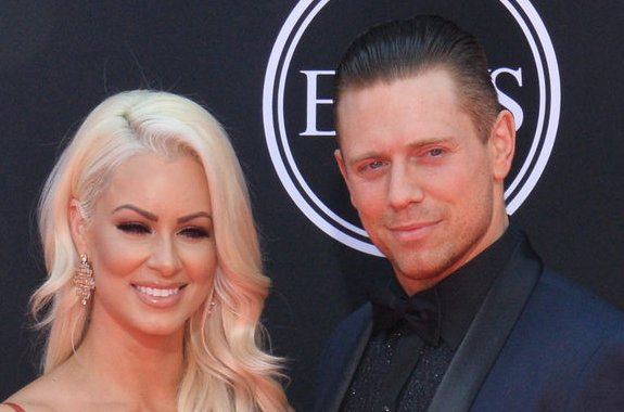Mike The Miz Mizanin (R) and his wife, Maryse Ouellet, attend the ESPYS in 2017. Mizanin says his new show, Cannonball, allows viewers to laugh and have a good time. File Photo by Jim Ruymen/UPI