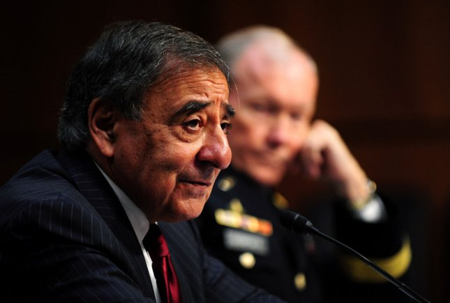 Defense Secretary Leon Panetta and Joint Chiefs of Staff Army Gen. Martin Dempsey testify during a Senate Armed Services Committee hearing on security issues relating to Iraq in Washington on November 15, 2011. UPI/Kevin Dietsch