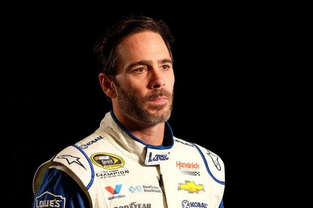 NASCAR Nationwide Series Championship driver Jimmie Johnson is seen taking questions from the press on media day at the Loews hotel in Miami Beach, Florida, on November 17, 2016. Photo By Gary I Rothstein/UPI