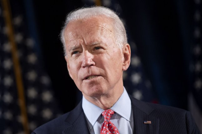 Former Vice President Joe Biden says he will oppose regime change in Tehran. File Photo by Kevin Dietsch/UPI