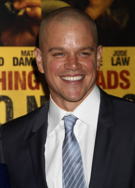 Matt Damon is set to make his directorial debut with an yet-to-be named film written with John Krasinski. UPI /Laura Cavanaugh