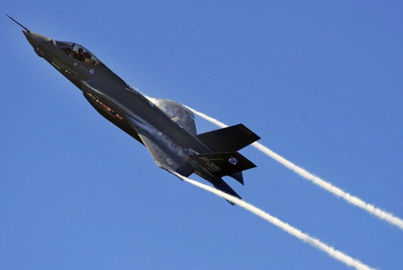An F-35 Lightning II Joint Strike Fighter test aircraft. (UPI Photo/Julianne Showalter/US Air Force)