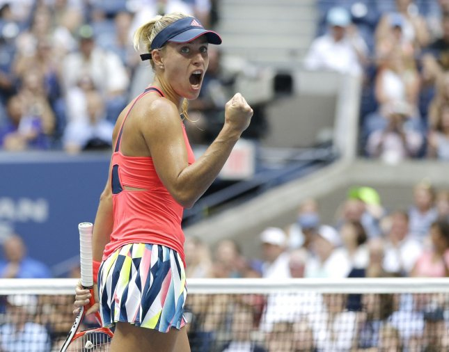 Angelique Kerber of Germany dominated the Czech Republic's Kristyna Pliskova in a 6-0, 6-4 third-round victory in Melbourne, Australia. File Photo by John Angelillo/UPI