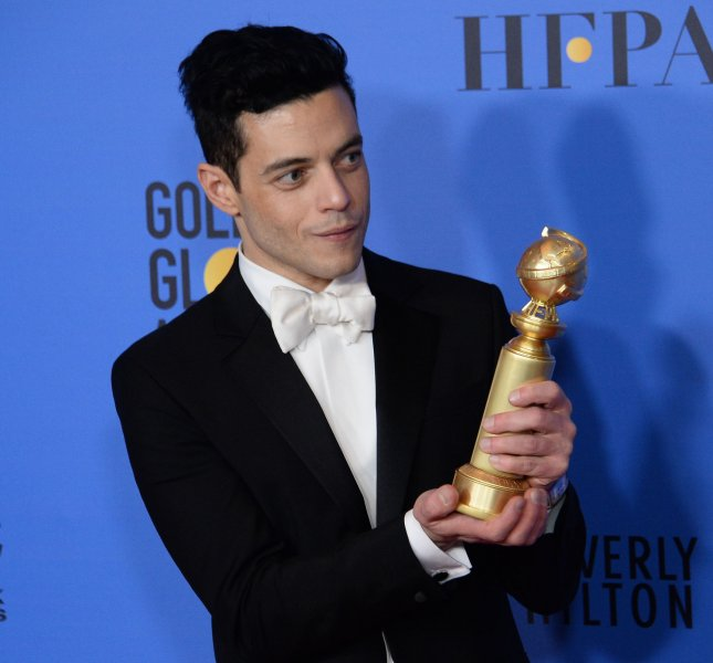 Actor Rami Malek appears backstage after winning the award for Best Actor in a Motion Picture Drama for Freddie Mercury biopic Bohemian Rhapsody during the 76th annual Golden Globe Awards on Sunday. The enduring appeal of the music made by Mercury and his Queen bandmates can be attributed, at least in part, to the influence of YouTube and social media. Photo by Jim Ruymen/UPI