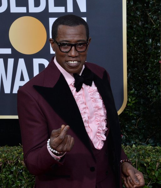 Wesley Snipes attends the 77th annual Golden Globe Awards at the Beverly Hilton Hotel California on January 5. The actor turns 58 on July 31. File Photo by Jim Ruymen/UPI